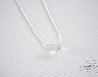 Sterling Silver Swarovski Pendant Necklace