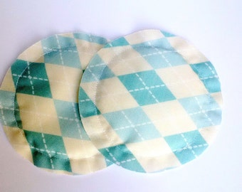Reusable Nursing Pads, Breast Pads, Heavy Absorbency, No Show, Breastfeeding Gift, Argyle Print