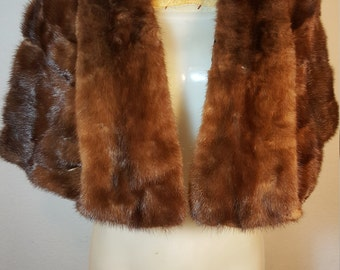 FREE  SHIPPING  1950 Mink Fur Wrap