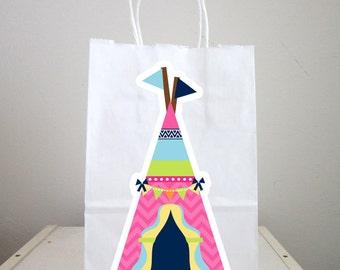 Teepee Goody Bags, Tipi Goody Bags, Tepee Goody Bags, Glamping Goody Bags, Pow Wow Goody Bags, Tribal Goody Bags