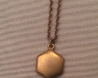 Pretty little antique, gold-filled pendant on chain