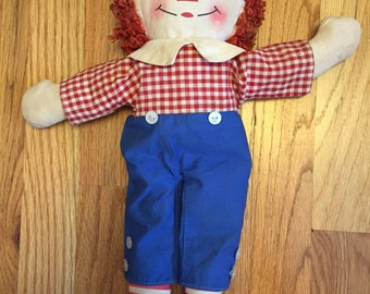 """16"""" 1960's Musical Raggedy Andy Doll"""