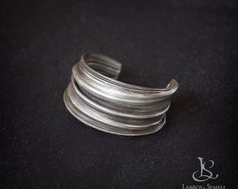 Silver Art Nouveau Cuff - Boho Cuff - Antique silver Cuff - Ancient Cuff