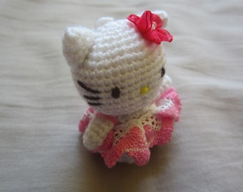 Hello Kitty Pink Lacy Costume Keyring