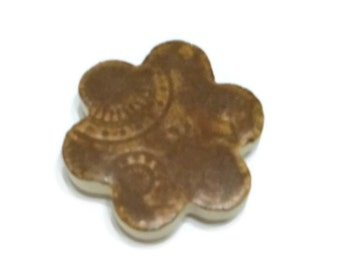 Fridge magnet - steampunk brown - earthy colored ceramic magnet - magnet - ooak - ceramic magnet