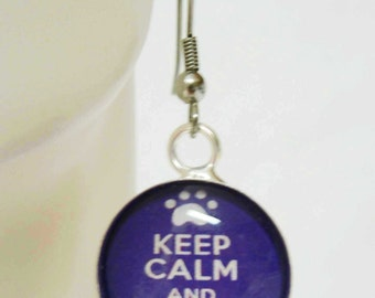 Keep Calm and Rescue On earrings - RAP07-002
