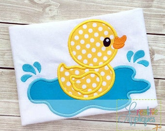 Rubber Ducky Duck Digital Machine Embroidery Applique Design 5 SIZES, duck applique, duck embroidery, rubber ducky applique, rubber ducky