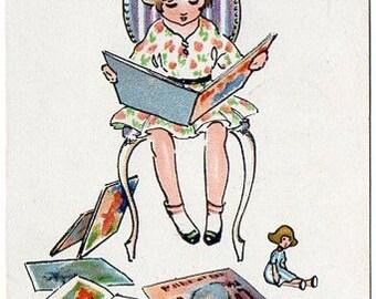 Vintage postcard 1927 Marie Hjuler Danish illustrator