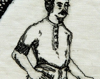 Eccentric Embroidery - The Corseted Man