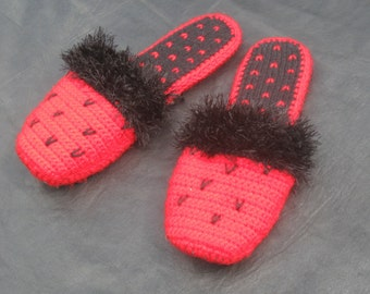 Crochet flip flops, slippers, Women's  slippers, Crochet shoes