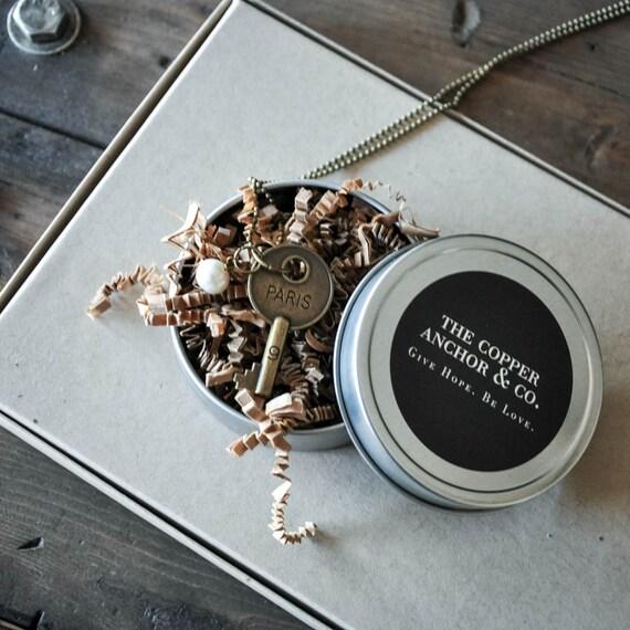 Gift For Paris Lover, Paris Gift, Key From Paris, Paris Key, Paris Necklace, Key Charm, Paris Pendant, Paris Charm, Vintage Key, Jewelry