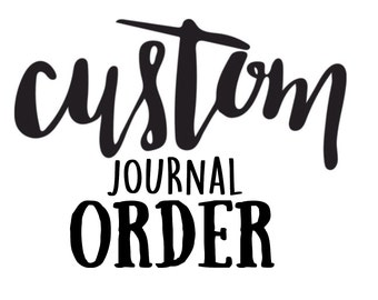 CUSTOM Prayer Journal, kraft journal, moleskine journal