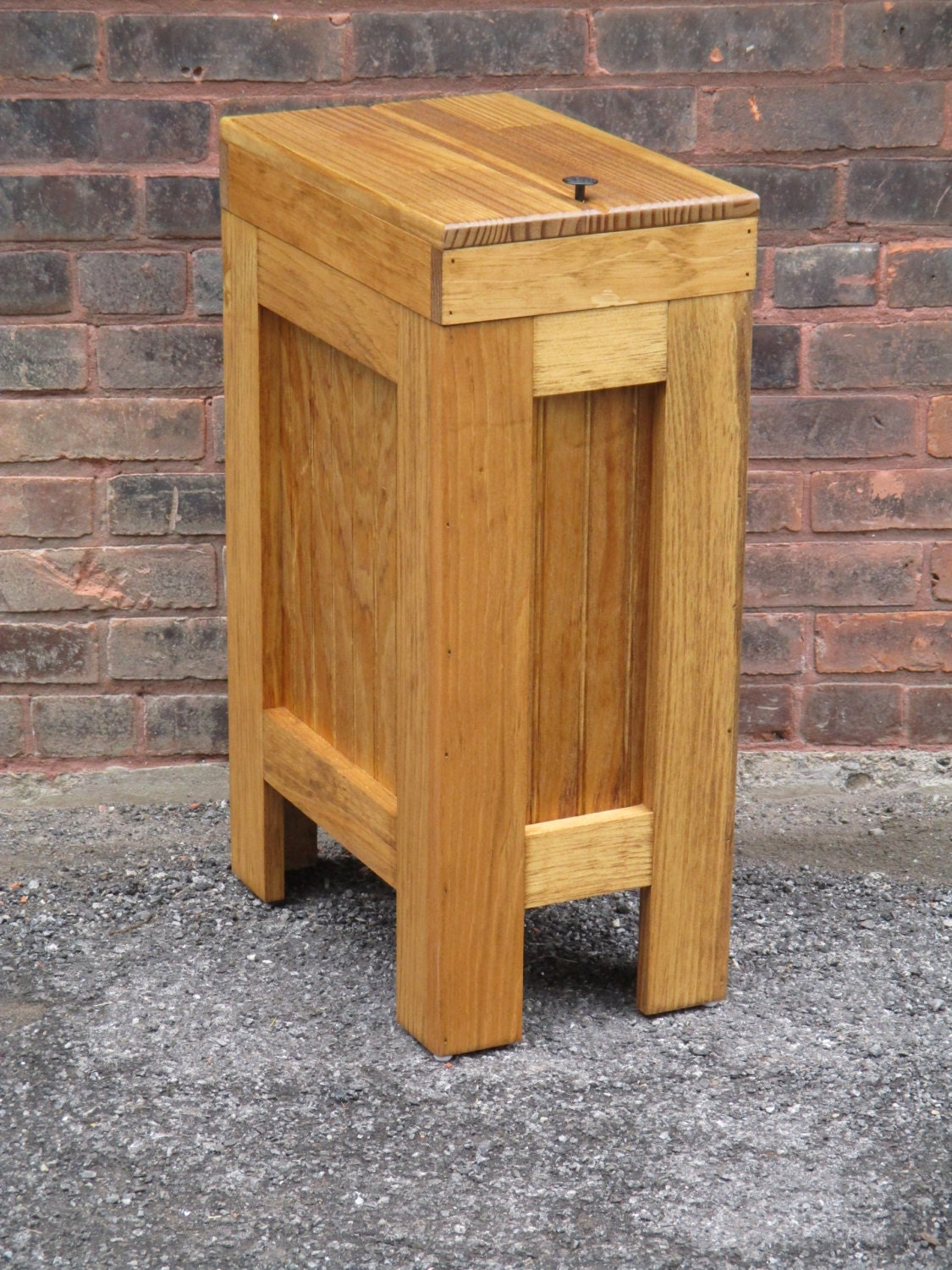 Wood Trash Bin Wood Trash Can Kitchen Garbage Can Dog Food