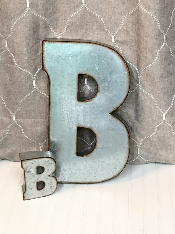 large metal letters large metal letter b galvanized letter by theshabbystore 22690 | il 570xN.882020054 cwwb