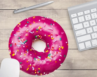 Donut Mouse Pad, Doughnut Mouse Pad, Baker's Mouse Pad, Donut Coaster, Doughnut Coaster (0033)