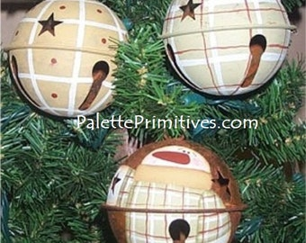 Winter Plaid Bell Ornaments - E-Pattern/Instant Download
