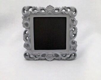 Ornate Chalkboard Frame Grey Wedding Sign Table Number Framed Chalkboard DIY Centerpieces Shabby Chic Vintage Wedding Decor Bridal Shower