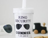 Ring Bearer Gift Personalized tumbler or sippy cup
