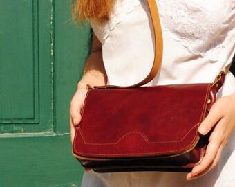 Leather bag, womens leather bag, leather bag womens, leather crossbody bag, leather shoulder bag, vintage leather bag, simple leather bag