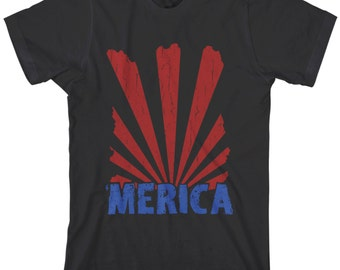 Merica Men's T-shirt US Proud American National Pride USA America Design - TA_00164