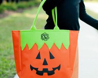 Monogrammed Halloween Tote