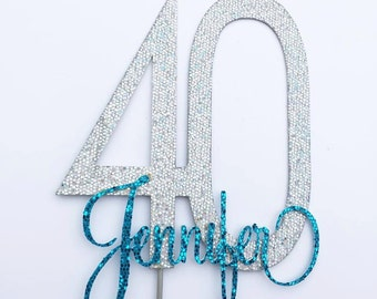 40 Cake Topper with Name
