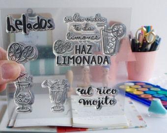 Clear Stamp LEMONADE, in Spanish
