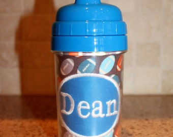 Football Sippy Cup - Personalized with Name or Monogram - SIPPY or STRAW Top options