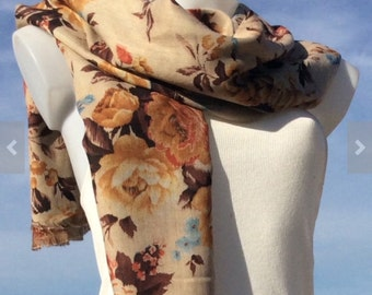 Scarves,Double Layer Scarf,Fall Scarf,Scarves For Women,Floral Scarf,Women's Scarves,Fashion Scarves,Winter Summer Scarf, Shawl,Gift For Mom