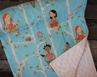 Minky Lap Blanket-Quiet Time-I love to Read