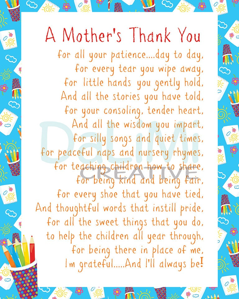 Thank You For Your Purchase Quotes: Teacher Appreciation Print End Of Year Teachers Gift