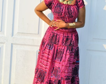 NEW LISTING Afro-Bohemian Gypsy style maxi dress