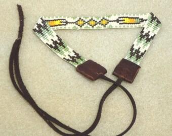 Beaded choker, seed bead jewelry, chokers, necklaces, neckwear, loom chokers, Native American, tribal, southwestern, western, native, boho