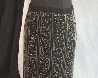 Vintage beaded slip, dress, Downton Abbey, retro, flapper, LBD, 50s