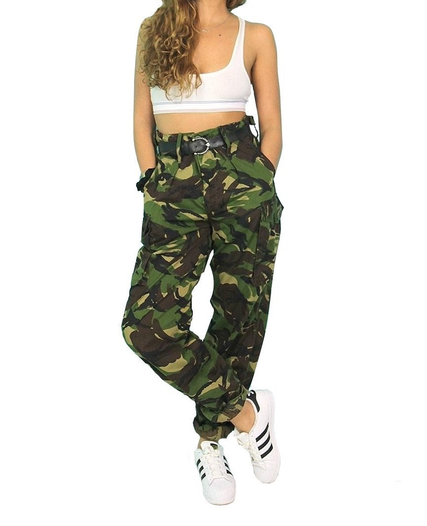vintage women 39 s british army soldier 95 camo trousers. Black Bedroom Furniture Sets. Home Design Ideas