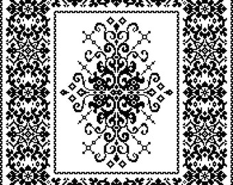 Filigree Table Topper: Wrought Iron Filigree in Filet Crochet