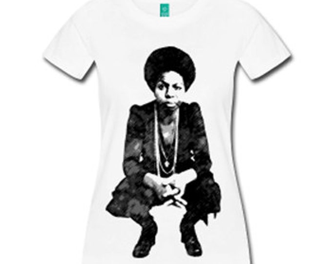 Young Nina Simone Women's Fitted T-Shirt - White