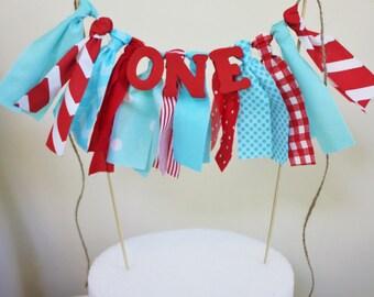 Dr. Seuss Cake Topper, Carnival Cake Topper, Smash Cake Topper, 1st Birthday
