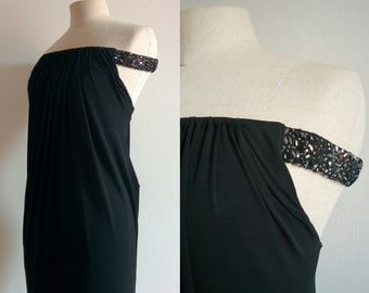 Giorgio Armani off-the-shoulder embellishment dress