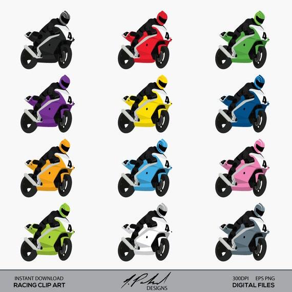 Motorcycle Clip Art - Superbike Clip Art - Racing Clip Art ...