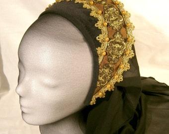 Renaissance French Hood Tudor LARP Medieval Wedding Anne Boleyn