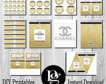 Chanel | Chanel No 5 | Chanel Perfume Bottle | Chanel Party Favors | Chanel Theme | CoCo Chanel | Chanel Inspired | Chanel Decorations