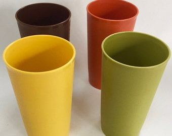 Vintage Tupperware Tumblers - Harvest Colors