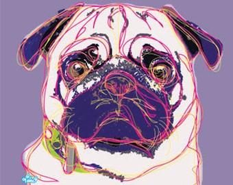 Art Print Pug