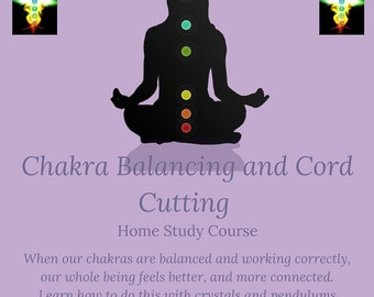 Chakra Balance and Cord Cutting Online Distance Learning Course, With Pendulum and Chakra Crystal Set, Chakra Balancing, Cord Cutting