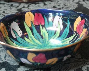 Byzanta Ware-Grimwades Stoke on Trent, England/English Porcelain-Royal Winton, Grimwades/Luster Tulip Bowl, English Porcelain