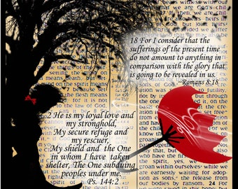"""Note Card """"Shelter and Refuge"""" -Scriptural 5""""x7"""""""