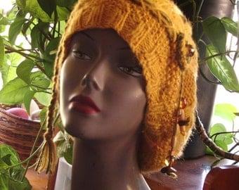 Super soft lightweight golden color hat