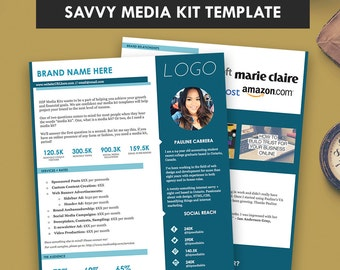 Media Kit + Rates Sheet, SAVVY, Press Kit, Blog Sponsorship, Pitch Kit (2 Pages)