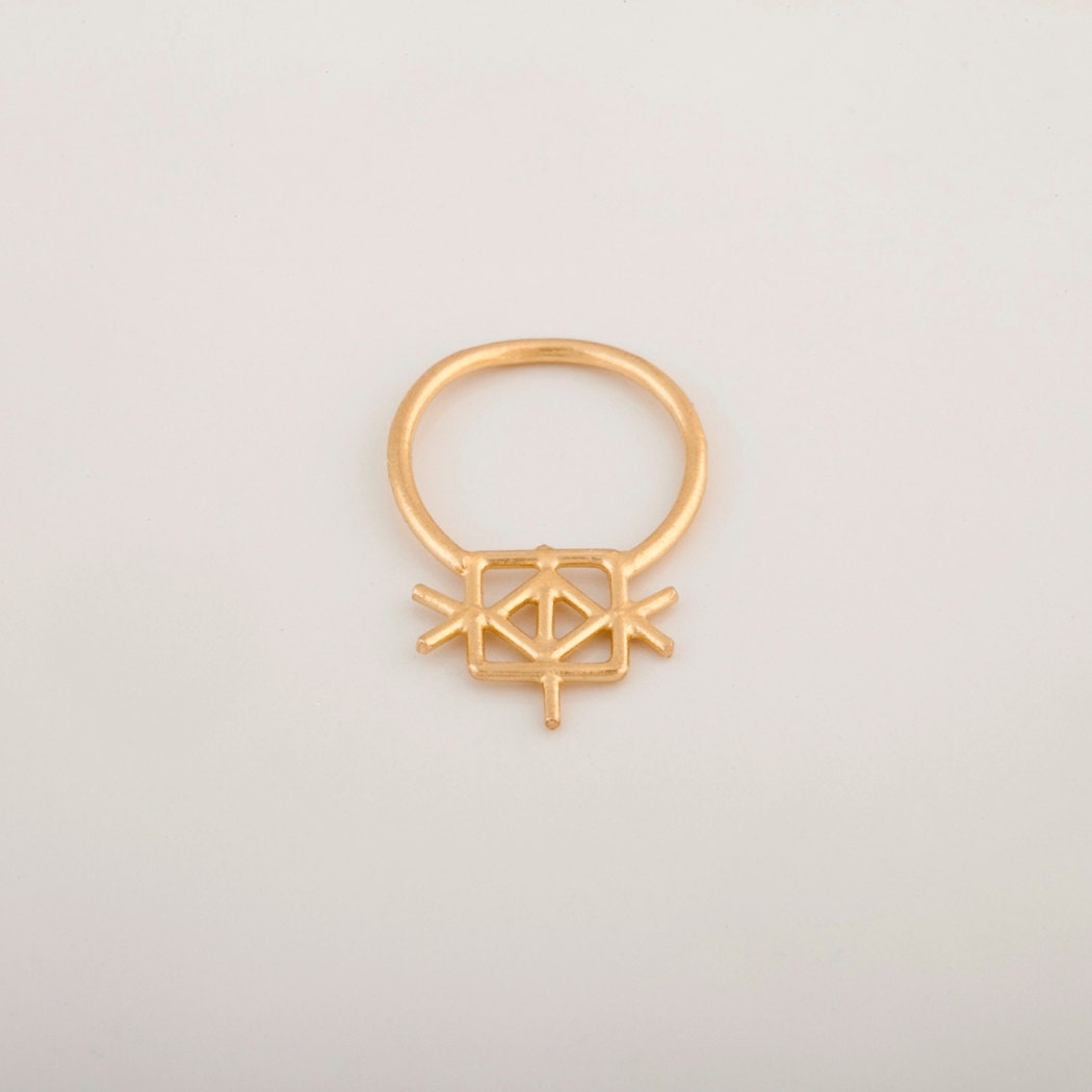 gold septum ring nose jewelry unique piercing tribal